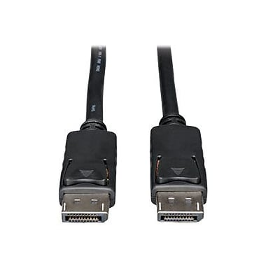 Tripp Lite® P580 6' DisplayPort Male/Male Monitor Cable with Latches, Black