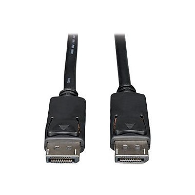 Tripp Lite P580 10' DisplayPort Male/Male Monitor Cable with Latches, Black