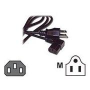 C2G  3152 6' NEMA 5-15P to IEC320C13R Universal Right Angle Power Cord, Black