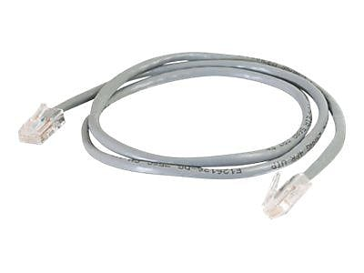C2G 22690 10' RJ-45 Male-to-Male Cat5e Non-Booted Patch Cable, Gray