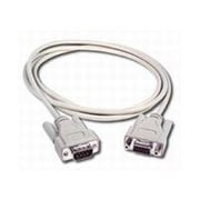 C2G ® 02711 6' DB9 Male/Female Serial RS232 Extension Cable, Beige