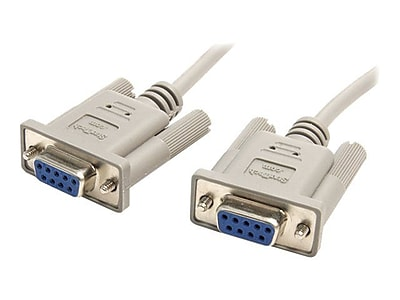 StarTech 10ft DB9 RS232 Serial Null Modem Cable F/F