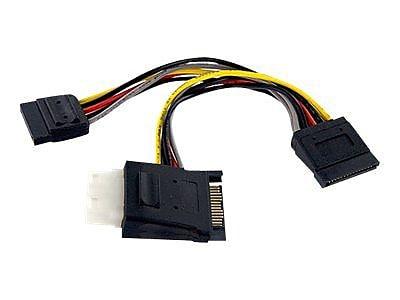 StarTech PYOLP42SATA SATA to LP4 with 2x SATA Power Splitter Cable