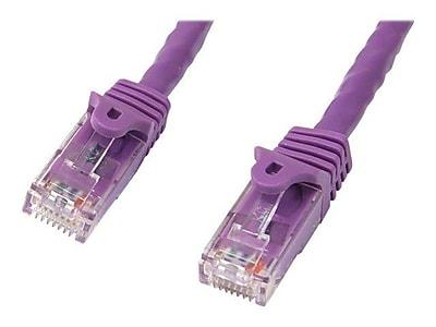 StarTech N6PATCH10PL Cat6 Patch Cable with Snagless RJ45 Connectors, 10ft, Purple