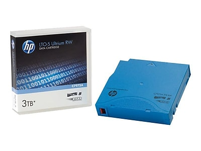 HP® LTO-5 Ultrium Non-Custom Labelled Data Cartridge, 3TB, 20/Pack (C7975W)