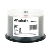 Verbatim ® DVD Recordable Media with Shiny Silver Silk Screen Printable Surface, 4.7GB, DVD+R, 8x, 50/Pack (95052)