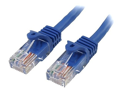StarTech RJ45PATCH10 Cat5e Patch Cable with Snagless RJ45 Connectors, 10ft, Blue