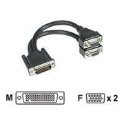 "C2G ® 38065 9"" LFH-59 to VGA Video Cable, Black"