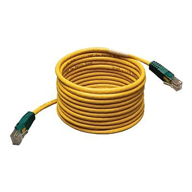 Tripp Lite N010 25' Cat5e RJ-45 Male/Male Molded Cross-Over Patch Cable, Yellow