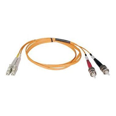 Tripp Lite N318 33' LC/ST Male/Male Duplex 62.5/125 OM1 Multimode Fiber Optic Patch Cable, Orange