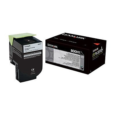 Lexmark® Unison 80C0H10 Black 4000 Pages High Yield Toner Cartridge for CX410de/CX410e Printer
