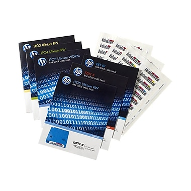 HP® LTO-6 Ultrium Bar Code Label Pack, 110 Labels/Pack (Q2013A)
