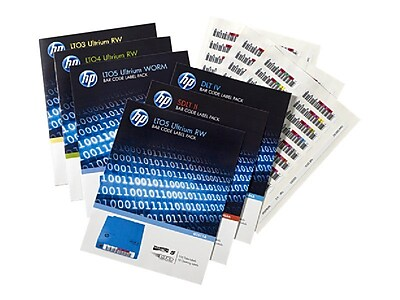 HP® LTO-6 Ultrium Bar Code Label Pack, 110 Labels/Pack (Q2013A)