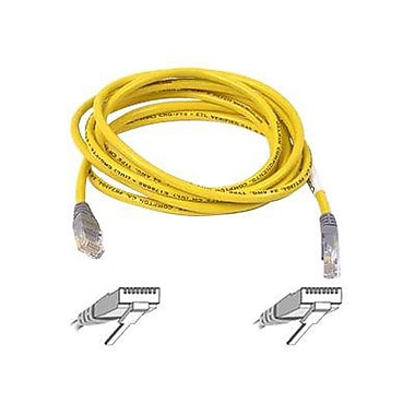 Belkin A3X126-07-YLW-M 7' RJ-45 Male/Male Cat5e Crossover Patch Cable, Yellow