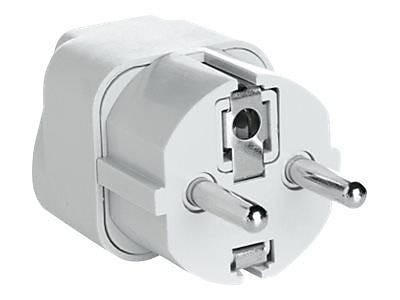 Conair Travel Smart Grounded Adapter Plug, White, for Electricity Converters/Transformers