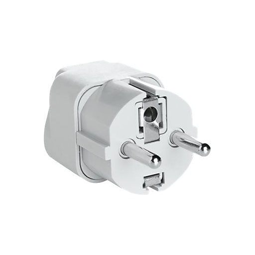 Conair Travel Smart Grounded Adapter Plug White For Electricity Converters Transformers
