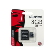 Kingston SDC4/8GB Class 4 8GB microSDHC Flash Memory Card