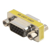 C2G ® 18962 VGA Mini Gender Changer, Nickel/Yellow