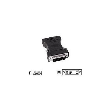 SIIG® CB-000061-S1 DVI/VGA Male/Female Video Adapter, Black