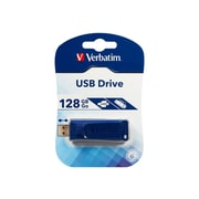 Verbatim ® 128GB USB 2.0 Retractable Flash Drive, Blue (98659)
