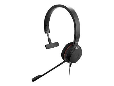 Jabra (4993-823-109) EVOLVE 20 MS Over-the-Head Wired Mono Headset with Noise Cancelling Microphone, Black