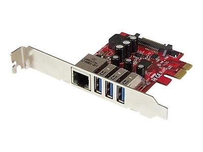 StarTech 3-Port PCI Express USB 3.0 Card and Gigabit Ethernet