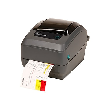 Zebra® GX430t Performance 4 in/s Direct Thermal/Thermal Transfer Printer, 4.25