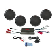 "Pyle PLMRKT4B Waterproof Micro Marine Amplifier and 6 1/2"" Speaker System, Black"