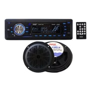 Pyle® PLMRKT12BK IN-Dash Marine AM/FM PLL Tuning Radio With USB/SD/MMC Reader, Black