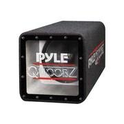 Pyle® PLQB10 500 W Bandpass Subwoofer Enclosure System, Blue/Black