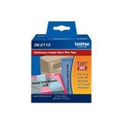 """Brother ® 50' x 2.4"""" Direct Thermal Continuous Label Tape, Black on Clear, 1 Roll (DK2113)"""