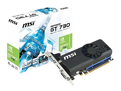 msi ® NVIDIA GeForce GT 730 GDDR5 PCI Express 2.0 2GB Graphic Card (N730K-2GD5LP/OC)