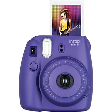 Fujifilm Instax Mini 8 Camera with 10 Exposures, Grape