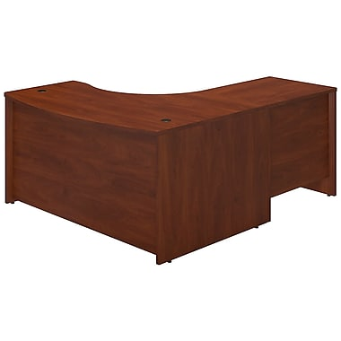 Bush® Business Westfield Elite 60W x 43D Left Hand Bowfront Desk Shell with 30W Return, Hansen Cherry