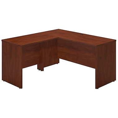 Bush® Business Westfield Elite 60W x 24D Desk Shell with 36W Return, Hansen Cherry
