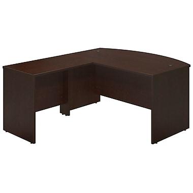 Bush® Business Westfield Elite 60W x 36D Bowfront Desk Shell with 36W Return, Mocha Cherry