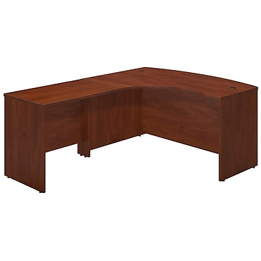 Bush® Business Westfield Elite 60W x 43D Left Hand Bowfront Desk Shell with 36W Return, Hansen Cherry