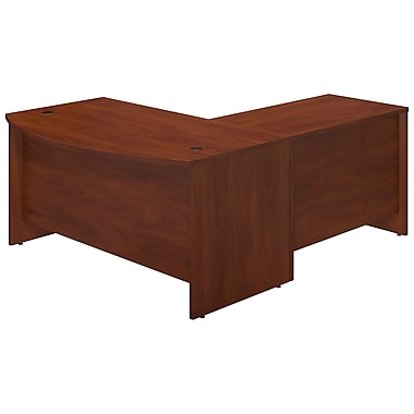 Bush® Business Westfield Elite 60W x 36D Bowfront Desk Shell with 42W Return, Hansen Cherry