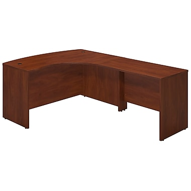 Bush® Business Westfield Elite 60W x 43D Right Hand Bowfront Desk Shell with 42W Return, Hansen Cherry