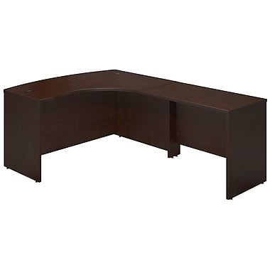 Bush® Business Westfield Elite 60W x 43D Right Hand Bowfront Desk Shell with 42W Return, Mocha Cherry