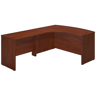 Bush® Business Westfield Elite 60W x 43D Left Hand Bowfront Desk Shell with 42W Return, Hansen Cherry