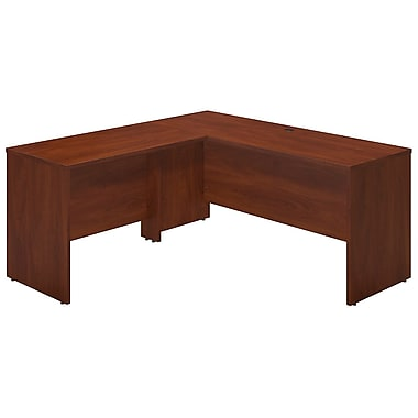 Bush® Business Westfield Elite 66W x 24D Desk Shell with 42W Return, Hansen Cherry