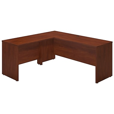 Bush® Business Westfield Elite 72W x 24D Desk Shell with 42W Return, Hansen Cherry
