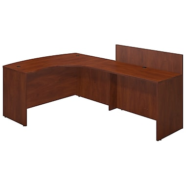 Bush® Business Westfield Elite 60W x 43D Right Hand Bowfront Desk Shell with 48W Privacy Return, Hansen Cherry