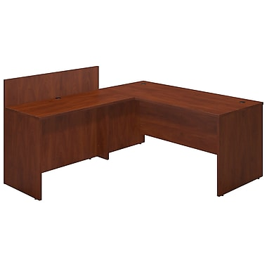Bush® Business Westfield Elite 66W x 30D Desk Shell with 48W Privacy Return, Hansen Cherry