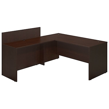 Bush® Business Westfield Elite 66W x 30D Desk Shell with 48W Privacy Return, Mocha Cherry