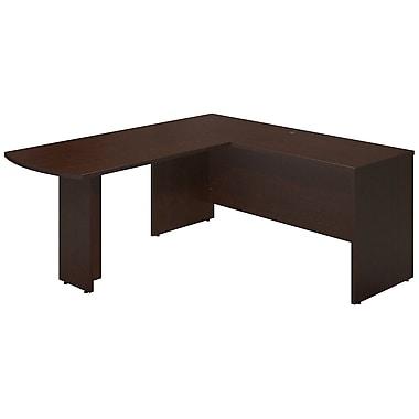 Bush® Business Westfield Elite 66W x 24D Desk Shell with 48W Peninsula Return, Mocha Cherry