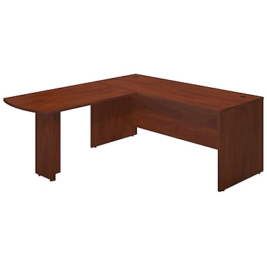 Bush® Business Westfield Elite 72W x 30D Desk Shell with 48W Peninsula Return, Hansen Cherry