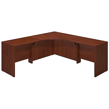 Bush® Business Westfield Elite 42W x 42D Corner Desk Shell with (2) 36W Returns, Hansen Cherry