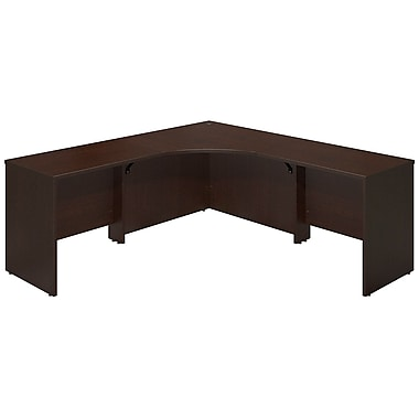 Bush® Business Westfield Elite 42W x 42D Corner Desk Shell with (2) 36W Returns, Mocha Cherry